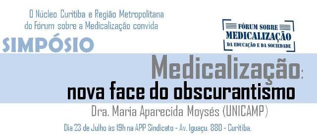 simposio medicalizacao a nova face da obscuridade